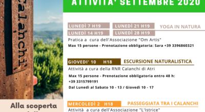 Escursioni e attività dal 1° al 14 settembre 2020
